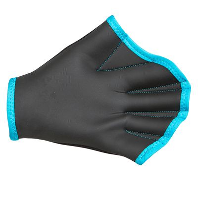 Gants palmés d'aquagym bleu