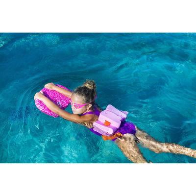 Ceinture de natation rose avec pains de mousse pour enfants de 15 à 60 kg