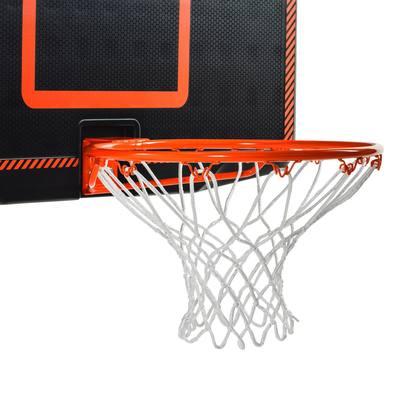 Panneau De Basket Enfant/adulte B300 Noir Orange. A Fixer Au Mur.