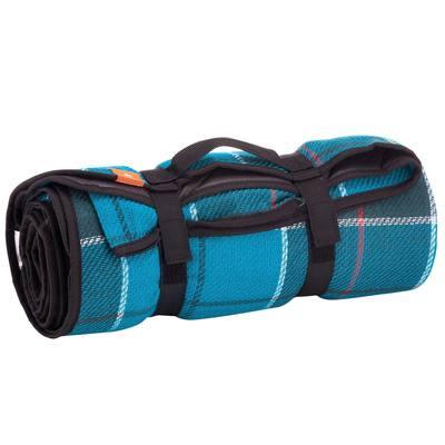 Mobilier randonnée plaid bleu
