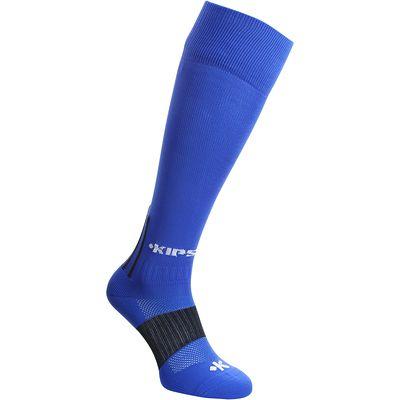 Chaussettes hautes football adulte F 500 bleu roi