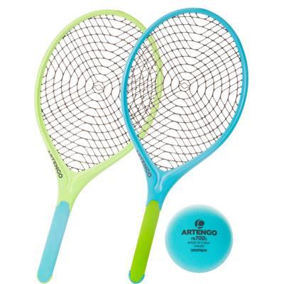 Set de 2 Raquettes Tennis plastique Funyten bleu vert