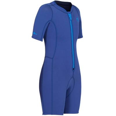 Shorty de snorkeling enfant 100 bleu marine