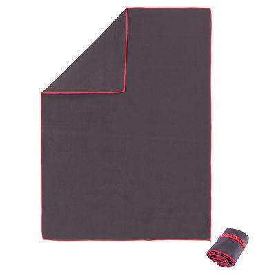 Serviette microfibre grise ultra compacte taille M 65*90 cm