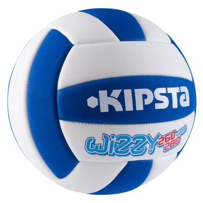 BALLON SOFT VOLLEY-BALL KIPSTA BLEU BLANC