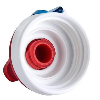 Gourde randonnée 500 bouchon ouverture rapide 0,8 litre plastique (Tritan) rouge