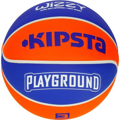BALLON DE BASKETBALL ENFANT WIZZY TAILLE 3 PLAYGROUND BLEU ORANGE