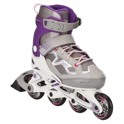 Roller fitness enfant FIT 3 JUNIOR blanc violet