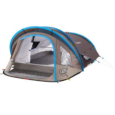 Tente de camping 2 seconds xl air 2 personnes bleu