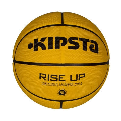 BALLON BASKET RISE UP TAILLE 5 JAUNE INITIATION