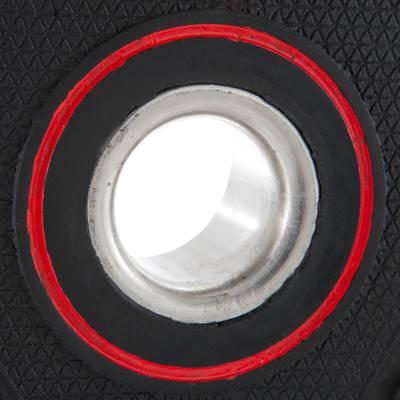 disque musculation avec poign es 28 mm caoutchouc 15 kg. Black Bedroom Furniture Sets. Home Design Ideas