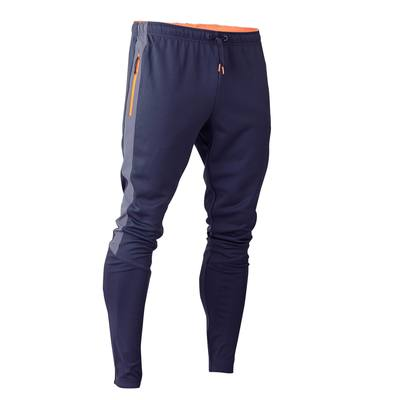 Pantalon de football adulte T500 gris orange