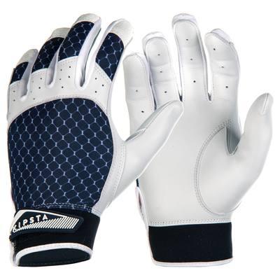 Gants de baseball pour batteur BA 550 bleus