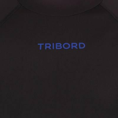 tee shirt anti uv surf top 500 manches courtes homme Noir