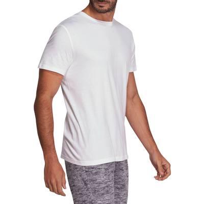 T-shirt coton Sportee fitness Essentiel homme blanc