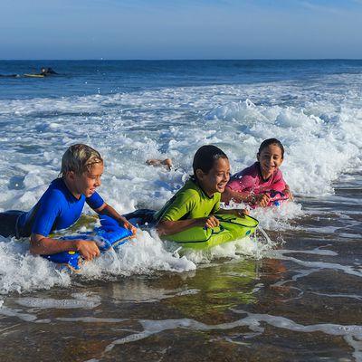 Combinaison surf Shorty 100 Néoprène Enfant Bleu