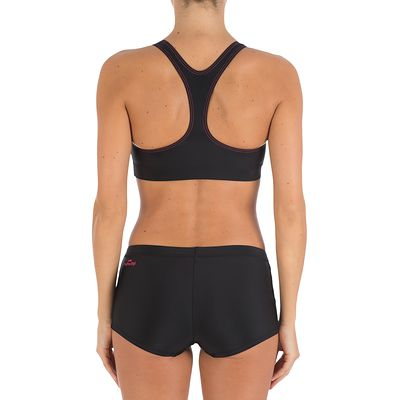 8b5ed20f94db5 Bas de maillot de bain de natation femme shorty Vega noir - Clubs ...