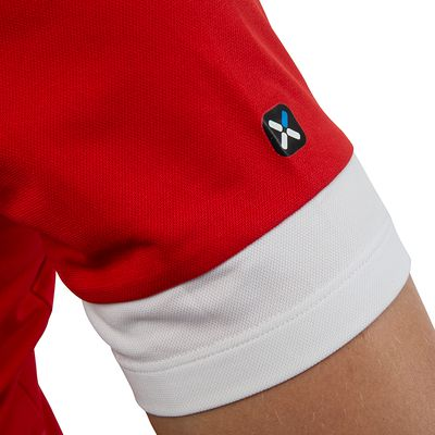 MAILLOT VELO MANCHES COURTES 320 ROUGE BLANC