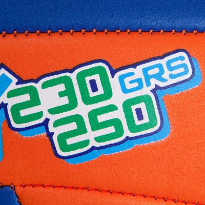 BALLON DE VOLLEY-BALL WIZZY 230G ORANGE BLEU POUR LES 10-14 ANS