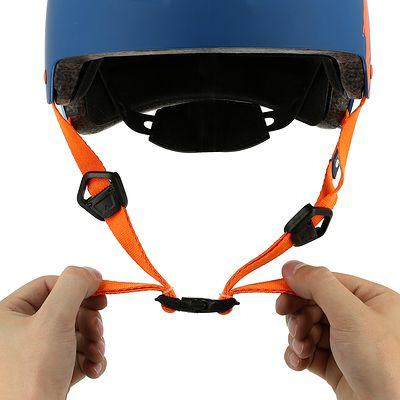 Casque roller skateboard trottinette vélo MF 7 bleu orange