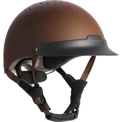Casque équitation C120 marron et noir