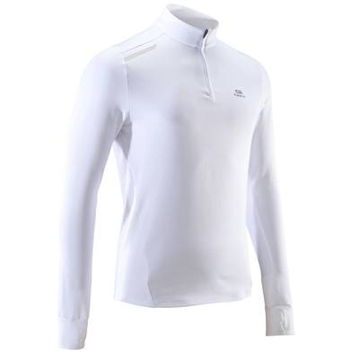 TEE SHIRT MANCHES LONGUES RUNNING HOMME RUN WARM BLANC