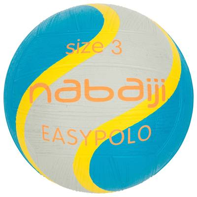 BALLON EASY POLO TAILLE 3 BLEU GRIS
