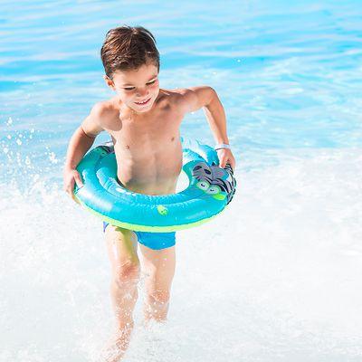 """Bouée gonflable 51 cm bleue imprimé """"ZEBRE"""" pour enfant 3-6 ans"""