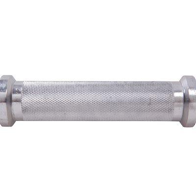 Barre de musculation 0.35m filetée chrome