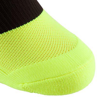 Chaussettes de football adulte F500 jaune fluo