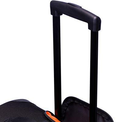 Sac à roulettes sports collectifs Hardcase 105 litres noir orange