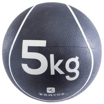LESTE DE FITNESS ET MUSCULATION MEDECINE BALL 5 KG