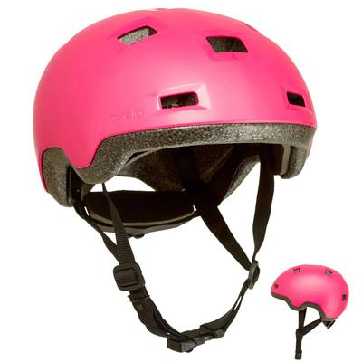 CASQUE ROLLER SKATEBOARD TROTTINETTE VÉLO B 100 ROSE