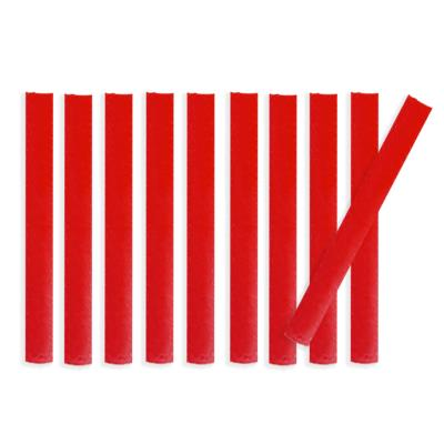 Lot de 10 bandes de marquage au sol PVC rouge