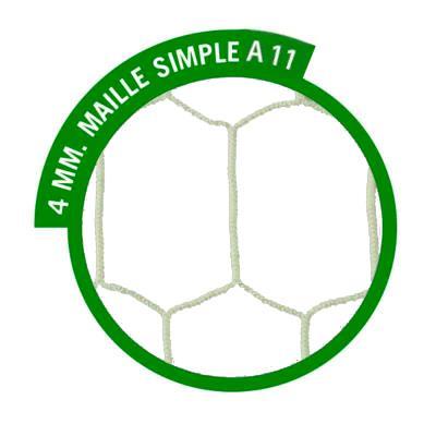 filets buts à sceller à 11 européen 4mm blanc européen hexagonal (la paire)