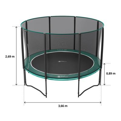 pack trampoline rond boost up 360 cm