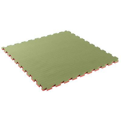 tapis de sol pour karaté 40 mm épaisseur vert / rose