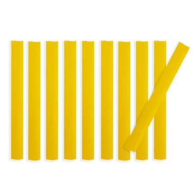 Lot de 10 bandes de marquage au sol PVC jaune