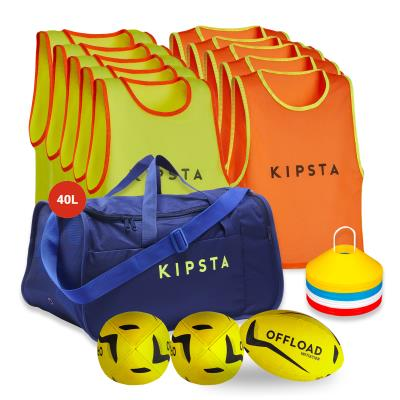 kit rugby apprentissage chasubles jaune orange Sans taille