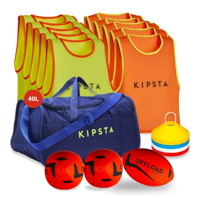 kit rugby apprentissage chasubles jaune orange T4 Sans taille