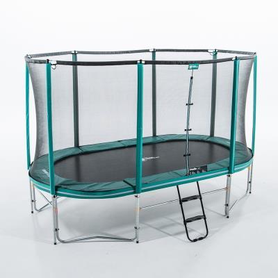 trampoline ovalie 490 x 285 cm avec filet