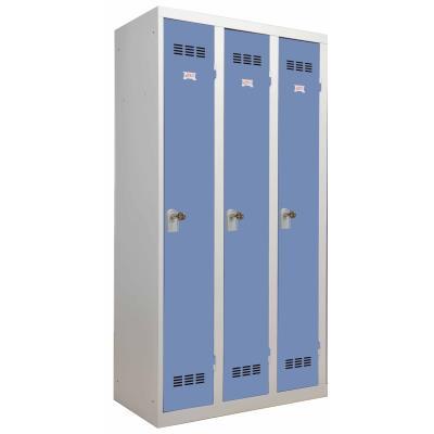casier vestiaires 3 colonnes simple moraillon cadenas