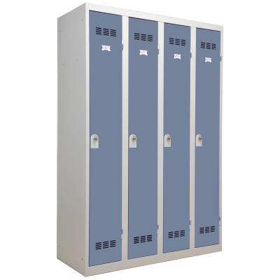 casier vestiaires 4 colonnes simples avec serrures