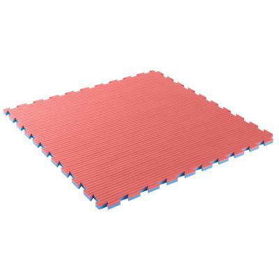 Tapis de sol pour karaté 40 mm bleu rouge