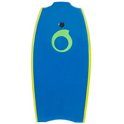 """Bodyboard 100 L (42"""") bleu avec semelle de glisse et leash"""