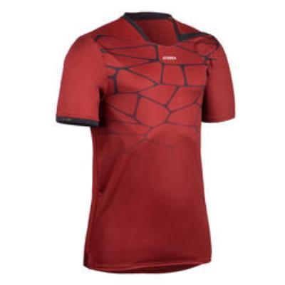 maillot manches c h500 h rouge noir