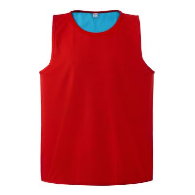 CHASUBLE RUGBY REVERSIBLE ROUGE/BLEU