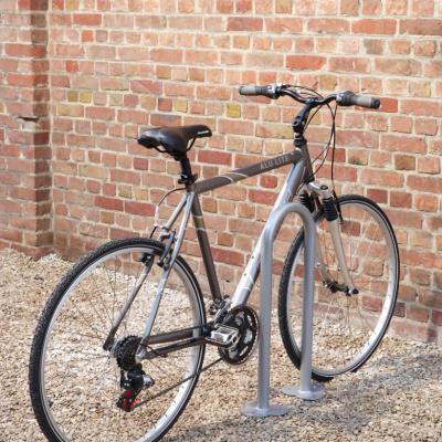 lot de 2 arceaux range vélos platine