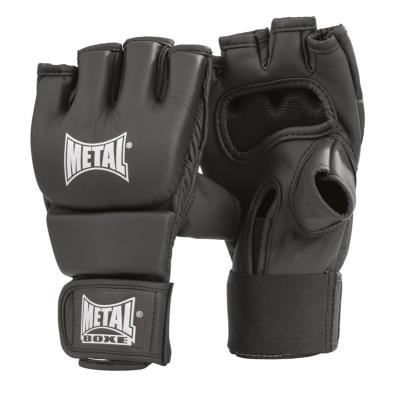 Gants de combat libre black light metal boxe