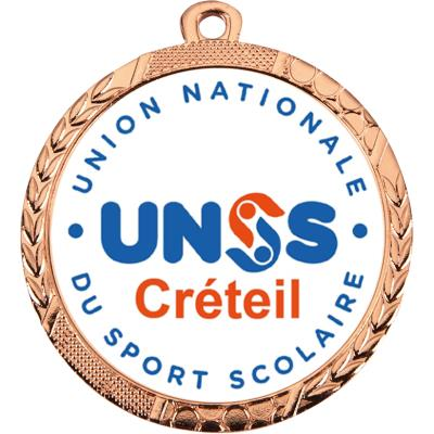 medailles personnalisees unss bronze